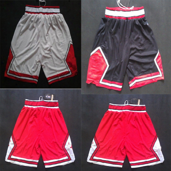White Red Black Basketball Shorts Mens Bulls Shorts Breathable Sweatpants Teams Classic Sportswear Chicago With Logo Basketball Pant