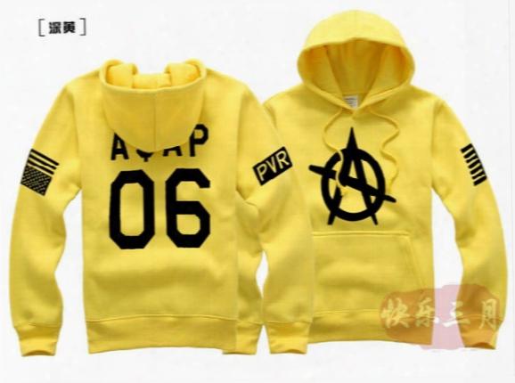 Wholesale 2016 Asap Rocky 06 Printed Men's Fleece Hoodies Men Hip Hop Basketball Hoodie Man Sports Sweatshirts Winter Clothing