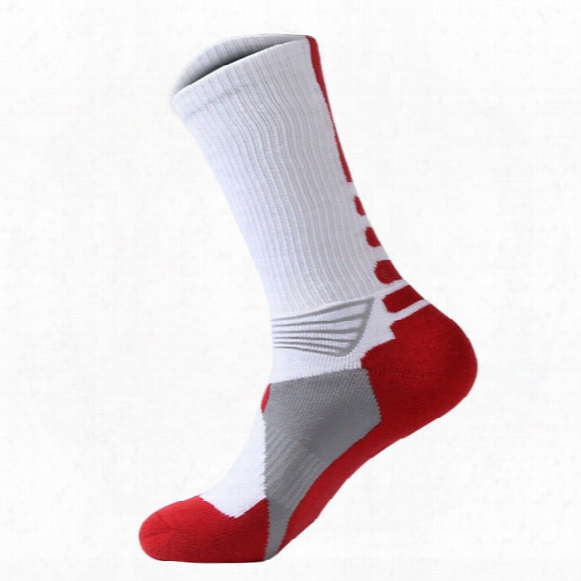 Wholesale-2016 Professional Mens Basketball Elite Socks Fashion Thicken Towel Outdoor Sports Athletic Sport Socks Skateboard Sox For Men
