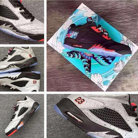 Wholesale 2016 Retro 5 Low Neymar Man And Woman Basketball Shoes Retro 5 Low Cny Chinese New Year Size Eur 36-47 Top Quality