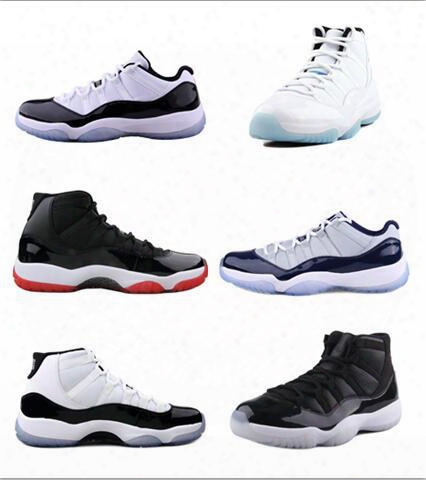 Wholesale 2017 Hot Sell Retro 11 Man Basketball Sheos 11s Gama Sport Shoes Size Eur 41-47 Free Shipping Top Quality