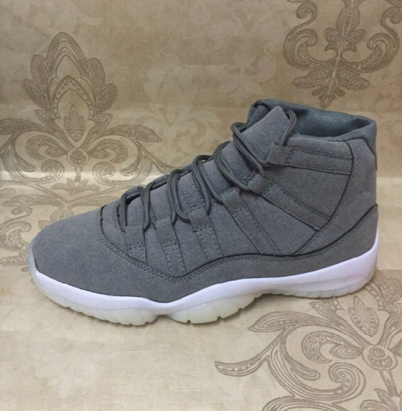 Wholesale Air Retro 11s Cool New Retro 11 Prm Grey Suede Men Basketball Shoes Sneakers Sport Shoes Size 8-13