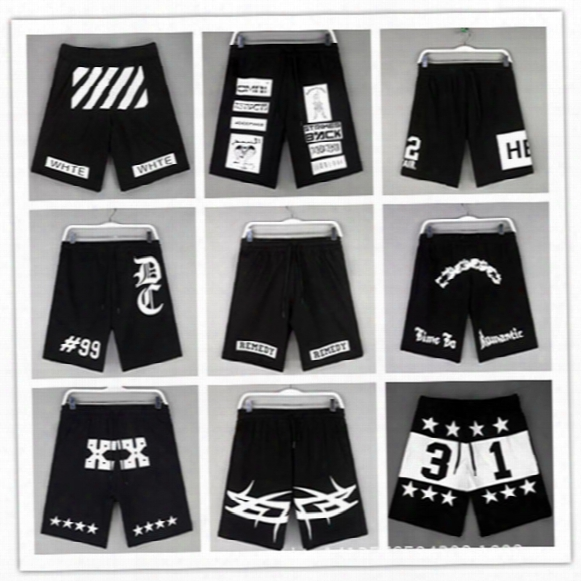 Wholesale-hba Print Summer Style Casual Shorts New Brand 2015 Harajuku Punk Hip Hop Men Street Wear Cloth Basketball Baggy Short Hipstet
