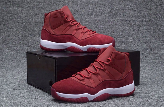 Wholesale New Retro 11 Xi Low Gs Velvet Heiress Night Maroon Wine Ed 11s Men Basketball Shoes Sports High Trainers Free Shipping 7-13