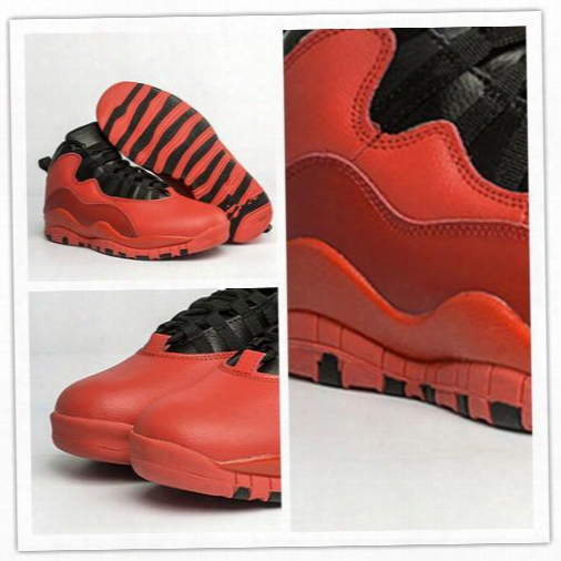 Wholesale Retro 10 X Red Black Mens Basketball Shoes 10s Sneakers For Boy Brand New Fashion Design Free Shipping