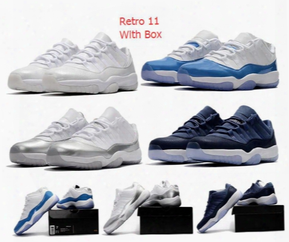 Wholesale Retro 11 Low Heiress Retro Low Unc Xi Bred Sneakers New White Blue Basketball Shoes Men And Women
