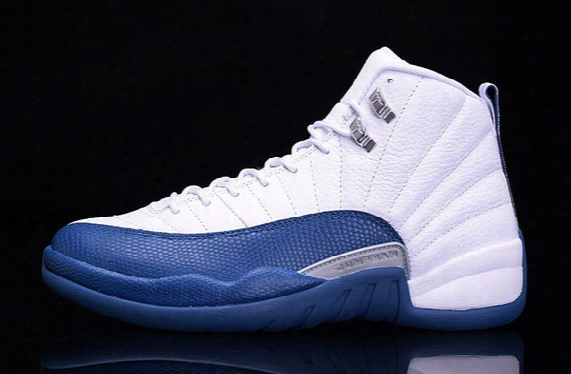 Wholesale Top Quality Retro 12 French Blue Gs Flu Game Shoes Sneakers Shoes Men Size Free Shipping By Ems