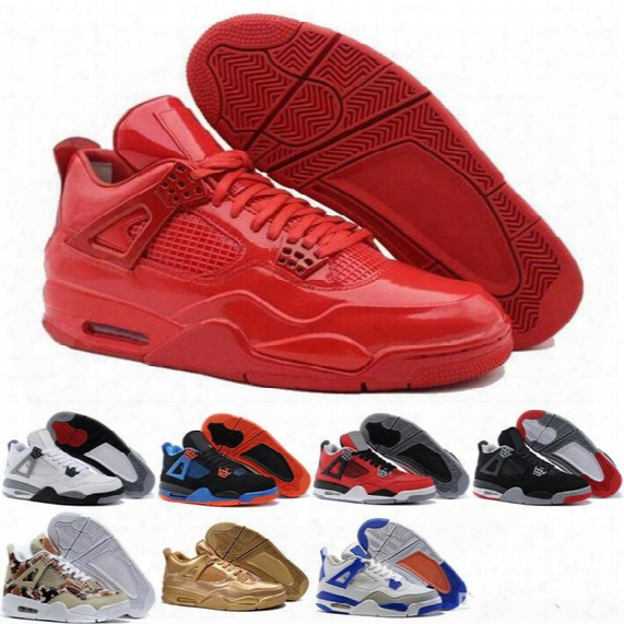 [with Box]newest Top Quality Basketball Shoes Retro 4s Sports Sneakers Men 2017 Zapatillas Authentic Real Replicas Basket Ball Retro 4