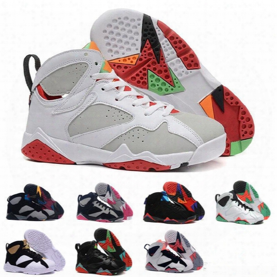 [with Box]retro 7s Vii Olympic Tinker Alternate Retro 7 Men Leather Shoes Basketball Shoes Low Boots Sneakers Sports Sneakers Wholesale