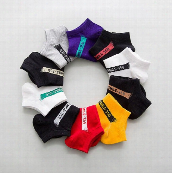 10 Pairs/lot Kanye Women Men Socks Ankle Soft Cotton For Ladies Basketball Sport Black White Spring European Style Fashion Hosiery New
