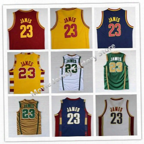 100% Stitched #23 Leb James Christmas Jersey Fro Lebron James College Jerseys Throwback Lebron James Basketball Jersey S-xxl