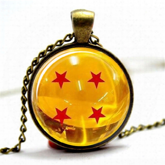 10pcs/lot Dragonball Z Necklace Glass Photo Cabochon Necklace