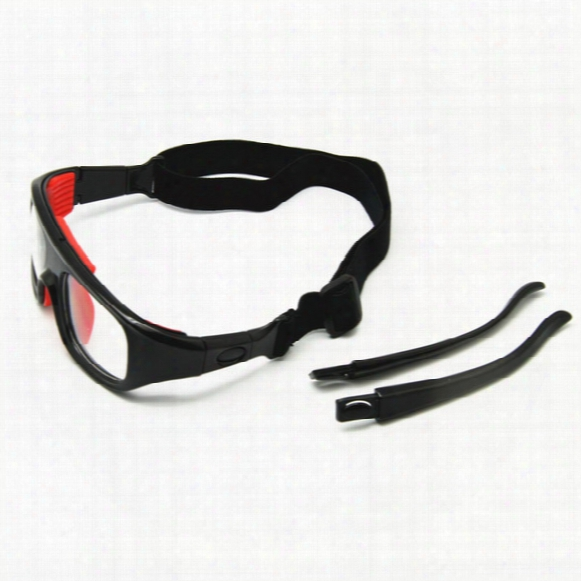 2-in-1 Basketball Glasses Optical Frame Detachable Legs & Strap Sports Goggles Protective