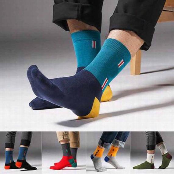 2016 High Quality Mens Business Socks Luxury Brand Elite Socks Fashion Casual Basketball Socks Cotton Compression Socks For Men