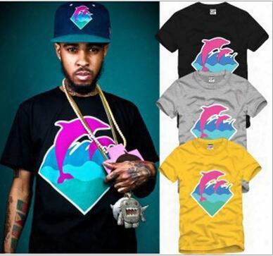 2016 Hottest Dolphins Short-sleeved T-shirt Hip-hop Street T Shirt Cotton Big Size Fashion Sport Mens T-shirts My-56
