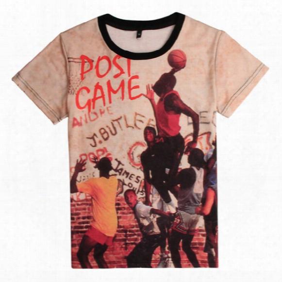 2016 New Mens Short-sleeved T-shirt Basketball Star Michael Jeffrey Michael Lore Basketball T-shirt Short-sleeved Sports T-shirt