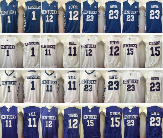 2017 College Kentucky Wildcats Basketball Jerseys 11 John Wall 23 Anthony Davis 1 Skal Labissiere 15 Demarcus Cousins 12 Karl-anthony Towns
