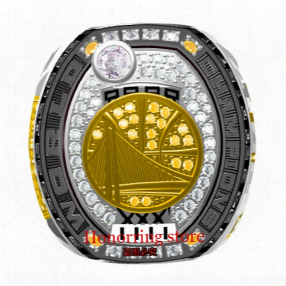 2017 Golden Basketball Warriors Sale Replica Championship Rings Men Jewelry Wholesale Free Shipping New Sport Fans Dro Pshipping