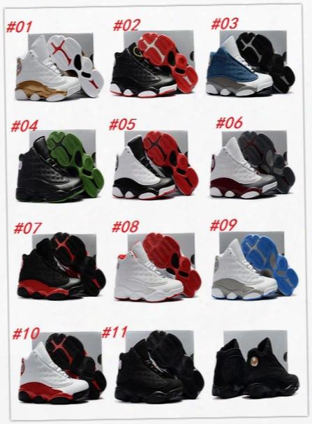 2017 Hot Sale Air Retro Xiii 13 Cp3 Basketball Shoes Retro13s Black Orion Blue Sunstone Athletics Sneaker Kids Sports Shoe 13s Trainers