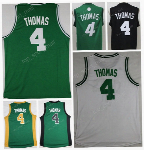 2017 Men 4 Isaiah Thomas Jersey Throwback Sport Isaiah Thomas Basketball Jerseys Green With Black Name Number Gold Christmas White Grey