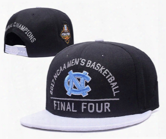 2017 Men's Basketball Final Four North Carolina Tar Heels Snapback Hat Blue Black Unc Champions Blocking Embroidered Ucla Adjustable Cap