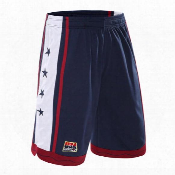 2017 New Usa Basketball Shorts Men Running Shorts Summer Beach Sport Shorts For Men 3 Color Plus Size