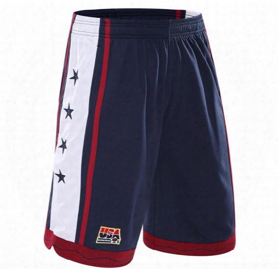 2017 New Usa Basketball Shorts Men Training Shorts Summer Beach Sport Shorts For Men 3 Color Plus Size