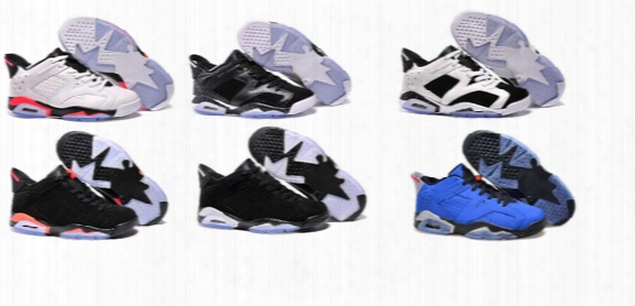 2017 New Wholesale Retro 6 Low Basketball Shoes Men High Quality Sneakers Cheap Men Sports Shoes Free Shipping Size 40-45