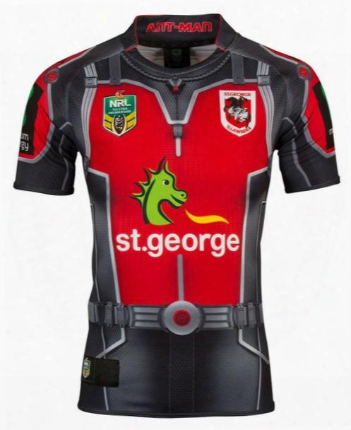 2017 St George Illawarra Dragons Jerseys 17 18 Ant Man Rugby Jerseys Top Quality Illawarra Rugby Shirts