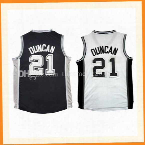 21 Tim Duncan Basketball Jerseys Men's 100% Stitche Embroidery Tim Duncan Throwback Ersey S-xxl High-quality Fast Free Shipping