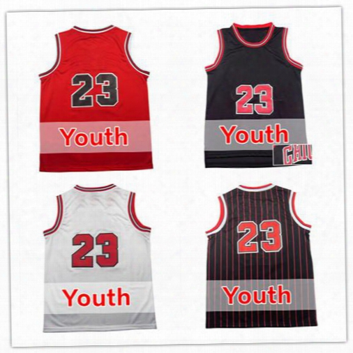 23 Michael Youth Jersey Fast Shipping 23 Kids Basketball Jerseys Good Quanlity Boys Jersey Embroidery Logos Size S M L Xl,mix Order