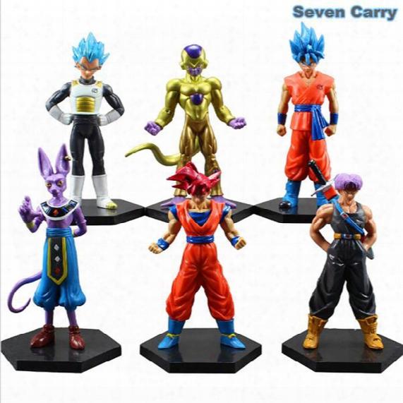 6pcs/set Dragonball Z Dragon Ball Dbz Anime 12-14cm Goku Vegeta Piccolo Gohan Super Saiyan Joint Movable Action Figure Toy