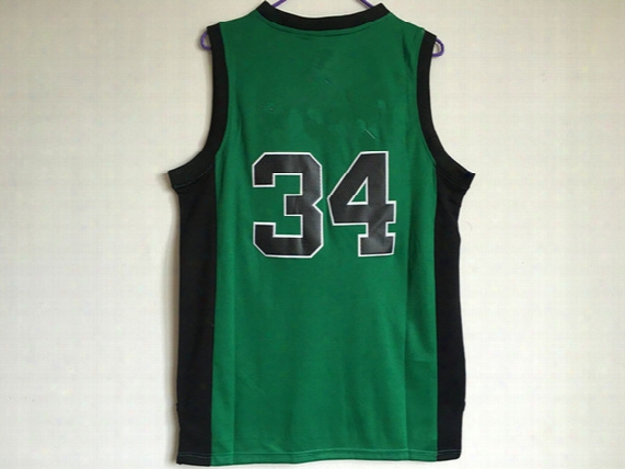 Basketball Jerseys Cheap Wholesale #34 Jersey 2017 New Best Quality Jersey Dark Green Embroidery Stitched Logos