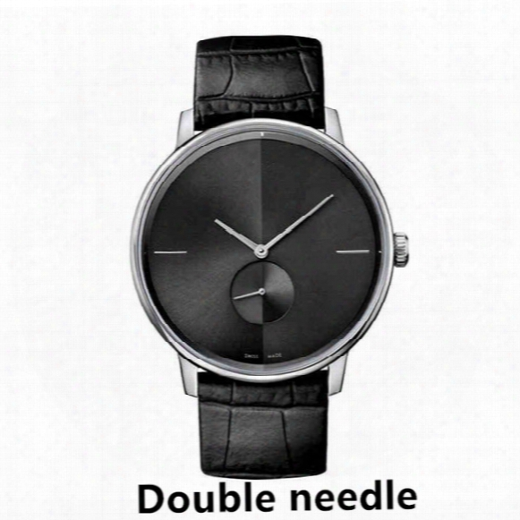 Best Seller Brand Swiss Men's Watches 40mm Black And White Montre Homme Series Independent Double Needle Luxury Watches Relogio