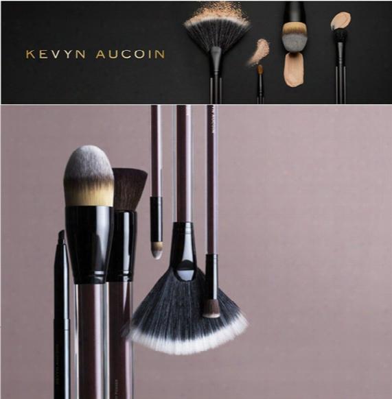 Brand Kevyn Aucoin Professional Makeup Brushes The Foundation Powder Lip Contour Eyebrow Eye Liner Make Up Brush Kit Pinceis Maquiagem.