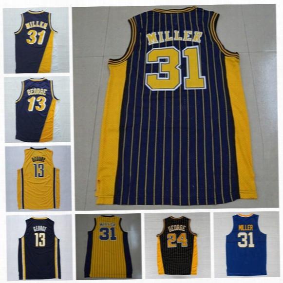 Cheap 13 Reggie Miller Jersey Throwback College Fresno State Bulldogs Basketball 31 Reggie Miller Throwback Jerseys Yellow Blue White Red
