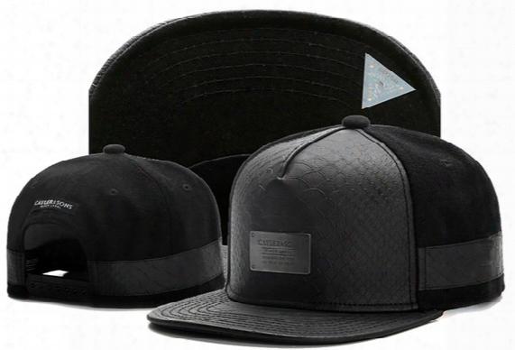 Cheap Cayler & Sons Snapback Hats Snakeskin Leather , Fashion Men & Women Skateboard Adjustable Basketball Caps ,hiphop Bboy Headwear