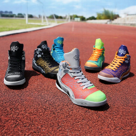 Colorful Lovers Basketball Sport Running High-top Sneakers Shockproof Fashion Plus Size 4d Sport Shoes For Men Women