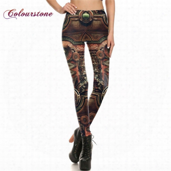 Colourstone Wholesale New Women Pant Legins Steampunk Gothic Comic Cosplay Trousers Sexy High Waist Leggings Punk Rock Jeggings Pants Famme