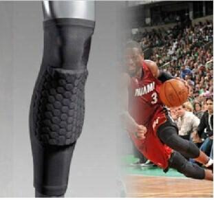 Crashproof Antislip Basketball Leg Knee Long Sleeve Protector Gear Honeycomb Pad Hight Quality Drop Shipping Free Shipping