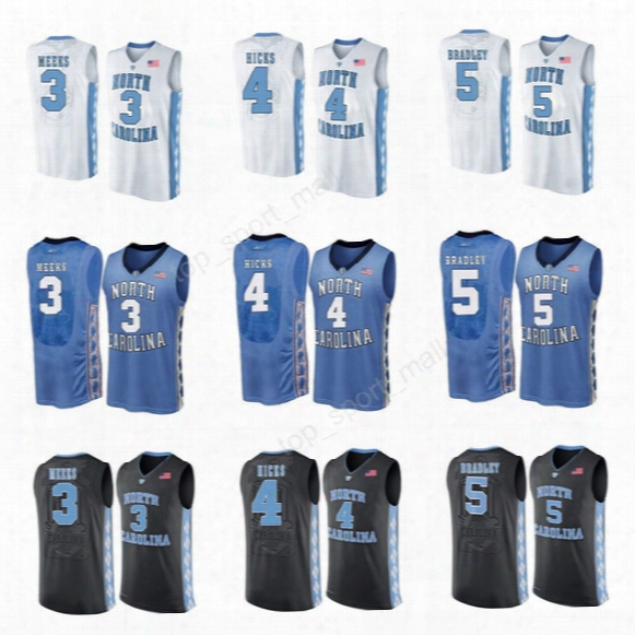 Custom 4 Isaiah Hicks Jersey College North Carolina Tar Heels Basketball 3 Kennedy Meeks Jerseys 5 Tony Bradle Sport Black White Blue
