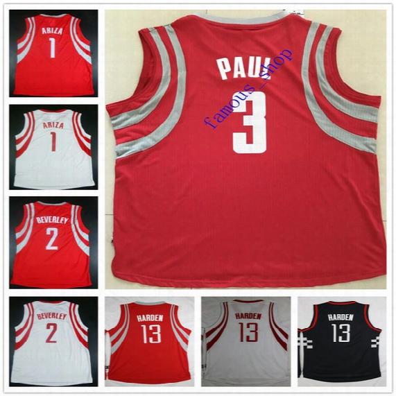 Custom Stitched Basketball #3 Ryan Anderson Jersey #1 Trevor Ariza #2 Patrick Beverley #10 Eric Gordon #12 Lou Williams #15 Clint Capela
