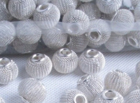 Diy Basketball Wife Earrings Tennis Beads Interval Beads 300pcs 14mm Mesh Beads