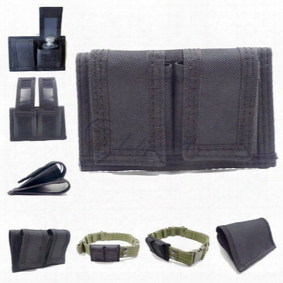 Double Speedloader Belt Pouch Universal Fit 22 Mag Thru 44 Mag, Multifunction Concelaed Carry Tactical Molle Pouches