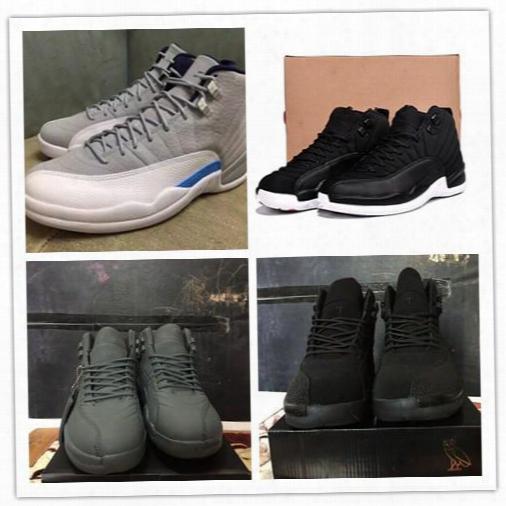 Free Shipping Air Retro Ovo Black Nylon Public School Psny Wolf Grey 12 Xii Sneakers Wholesale Good Quality Version Us Size 8-13