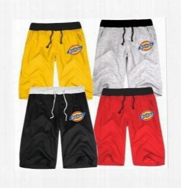 Free Shipping Basketballl Shorts Letter Print Half Pant Hip Hop Clothes Hiphop Clothing Dickies Printed Half Pants Dance Pants 8color