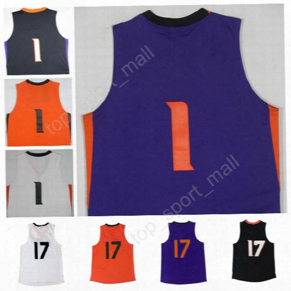 High Quality 1 Devin Booker Men Basketball Jerseys Sale All Stitched 17 Josh Jackson Jersey Black Orange Purple White With Player Name