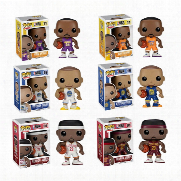 High Quality Celebrity Model Dolls Funko Pop Q Edition 6 Doll Ornaments Basketball James Kobe No. 23 Vinyl Model