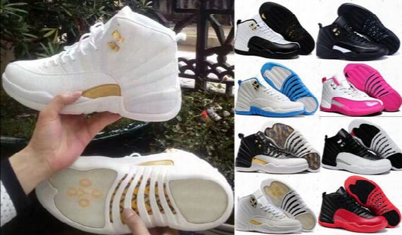 High Quality Jumpman Retro 12 Xii Basketball Shoes Women Men 12s Ovo White Gym Red Taxi Blue Suede Flu Game Sports Sneakers [with Box] 7-11