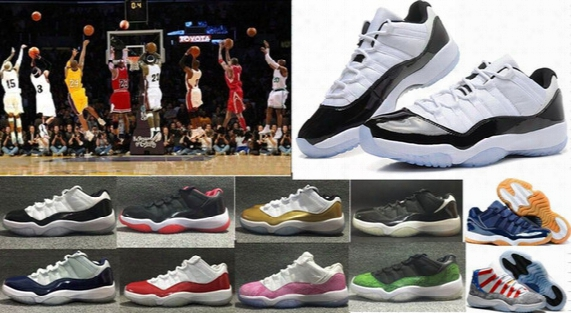 High Quality Xi 11 Low Bred Basketball Shoes Retro 11s Sports Shoes 11s Low Concords Basketball Boots Men Women Wholesale 11s Sneakers 6-12